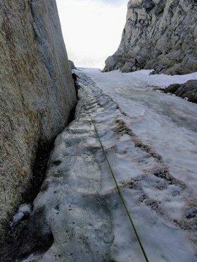 September ice on North Peak. photo: Dave Stimson