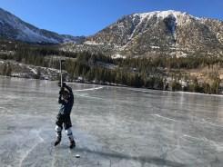 Ice skating in Rock Creek, Dec 2017