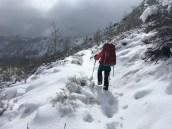 2/27 Winter mountaineering in June Lake area. photo: Kyle Queener