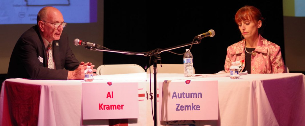 Republican Al Kramer. Democrat Autumn Zemke - image - Kristin Simons, Nevada Capital News.