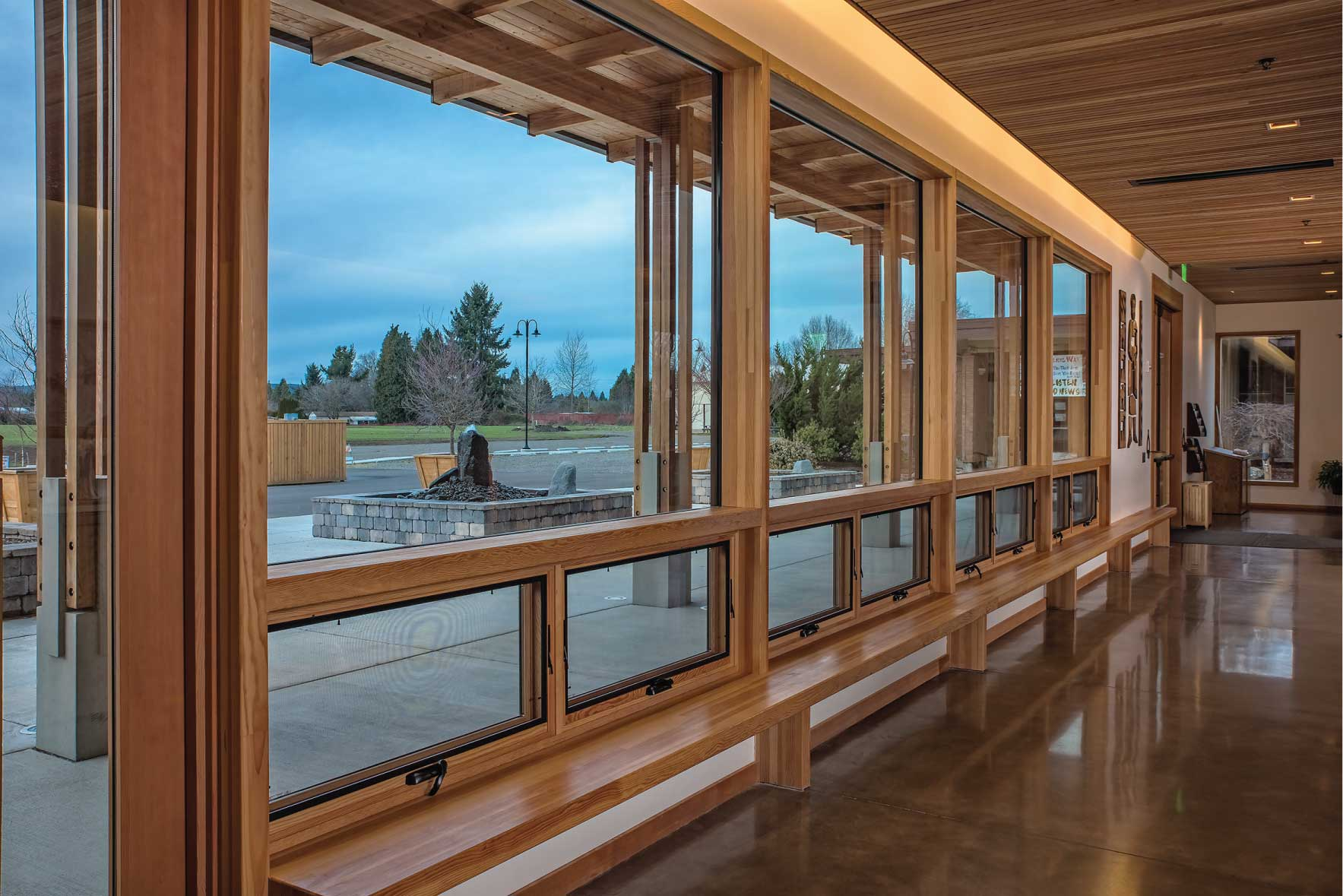 wall system timber curtain wall