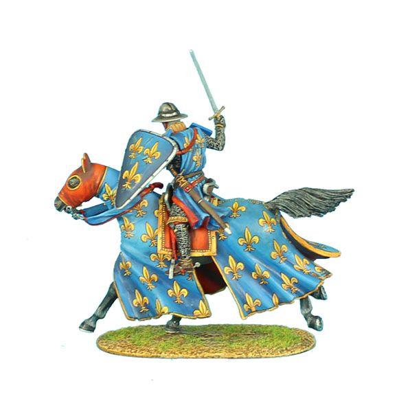 CRU052 Mounted Crusader French Knight Charging