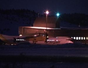 Mammoth Airport at Night