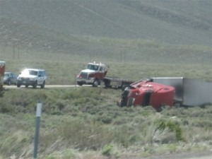 High Winds Turn Big Rig