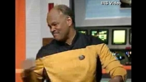 IRS employee spoofing Star Trek (?) at taxpayers' expense.
