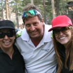 Putting Contest winner Chris Jenkins with Suzanne Tinsley (L) and (R) Jill Keefer.