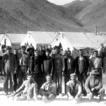 Aqueduct Camp: An ethnically diverse, mostly transient workforce built the LA Aqueduct and many workers lived in construction camps, such as the one shown here, located along the length of the 233-mile long aqueduct. Photo courtesy Eastern California Museum.