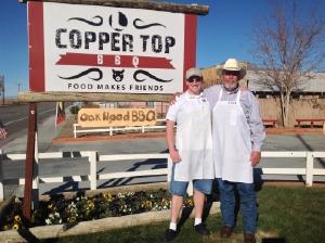 Hank and Matt Otten outside Copper Top.