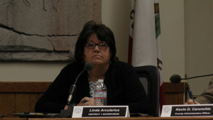 Supervisor Linda Arcularius stood up for the Lone Pine school farm.