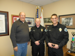 (l-r) Chief Dan Watson, Officer Kevin Reynolds, Officer Jake Guido