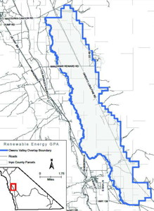 Between Independence and Lone Pine - One of fourteen Renewable Energy Development Areas proposed throughout the County.