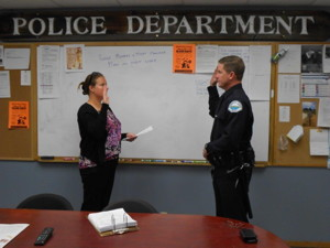 Officer Robin Henry sworn in.