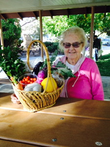October 18 basket winner - Betty Frampton of Bishop.