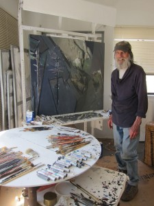 Ray T. Dutcher in his studio