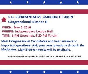 u.s. congressional candidates night