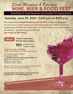 2016 Swall Paradise Wine Beer Fest Flyer