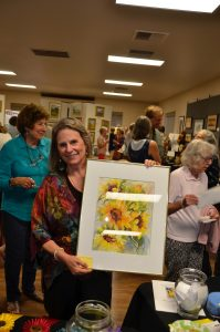 """Lynne Peterson donated raffle painting """"Sunny Ones"""""""