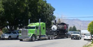 Slim Princess steam locomotive moved to Eastern California