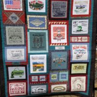 Quilt Made from Vintage Ts
