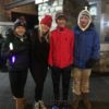 Cassidy Seitz with her friends, 14-year-old Julianna Savagian,and Colin, age 14, and Emmet Kneafsey, age 15. (2)