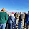 INYO350 group meets with Cap Aubrey at the Sunland Landfill Recycling area.