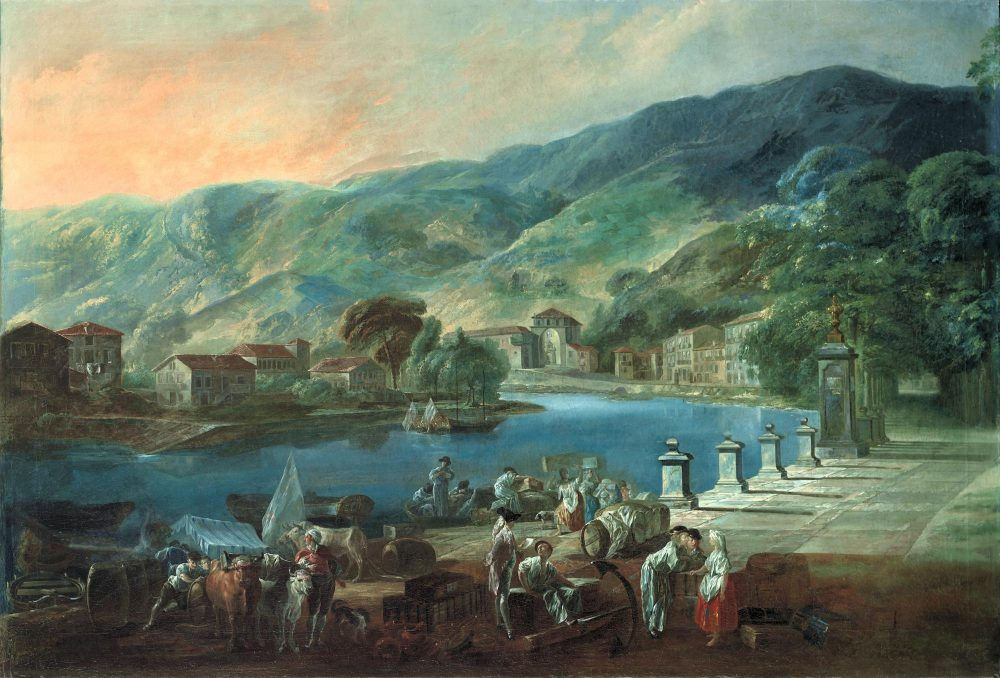 Bilbao. Vista de El Arenal, siglo XVIII. Luis de Paret. Museo bellas artes de Bilbao