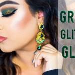 Green glitter glam eyemakeup tutorial
