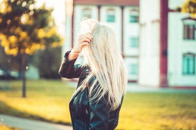 blond hair woman