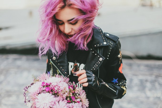 hair color ideas- purple blond