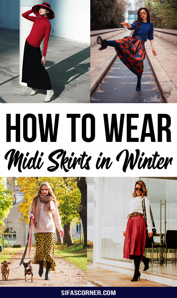 How to Wear Midi Skirts in Cold Weather