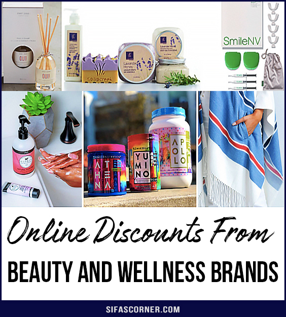 online discounts from Beauty and Wellness Brands