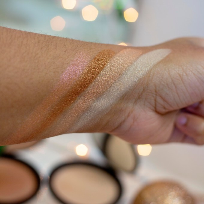 BECCA Shimmering Skin Perfector pressed highlighters swatches