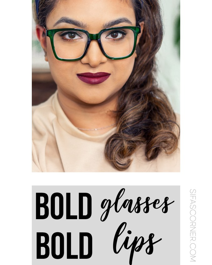 How to Look Stylish with Bold Glasses, Bold Lips