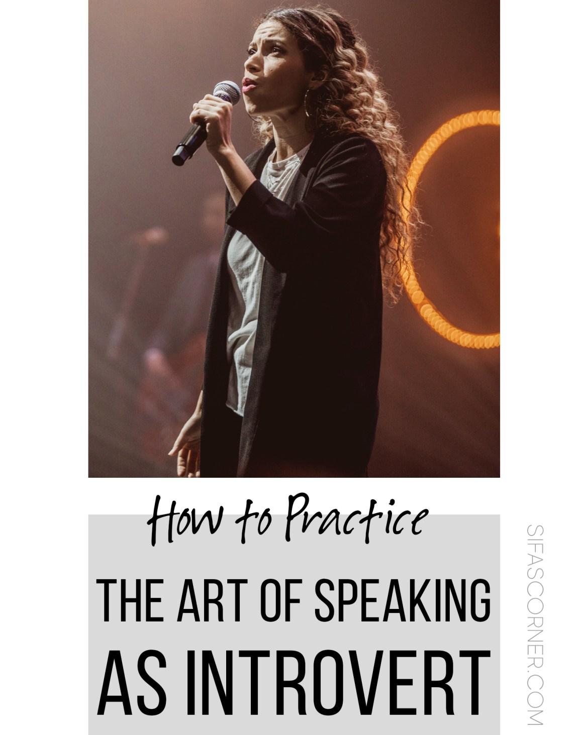 how to practice art of speaking