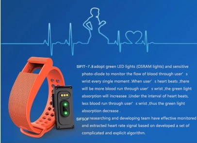 SIFIT-7.8- Heart Rate Monitor Bracelet -8