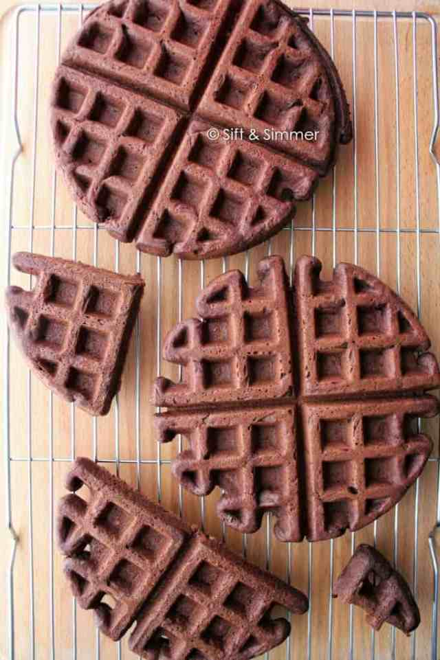 Chocolate Black Bean Waffles