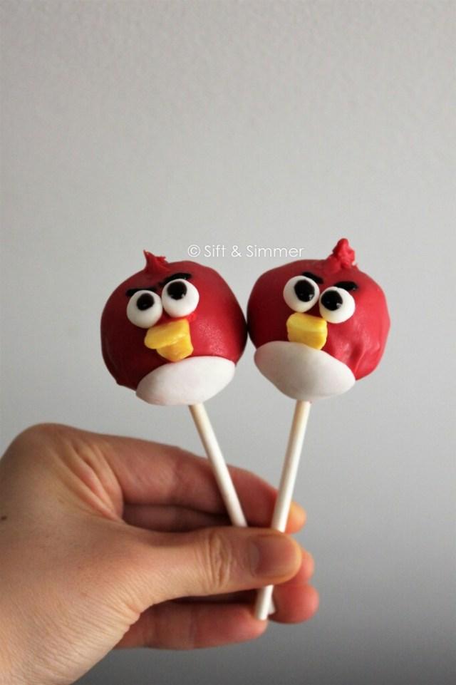 Angry Bird Cake Pop 1