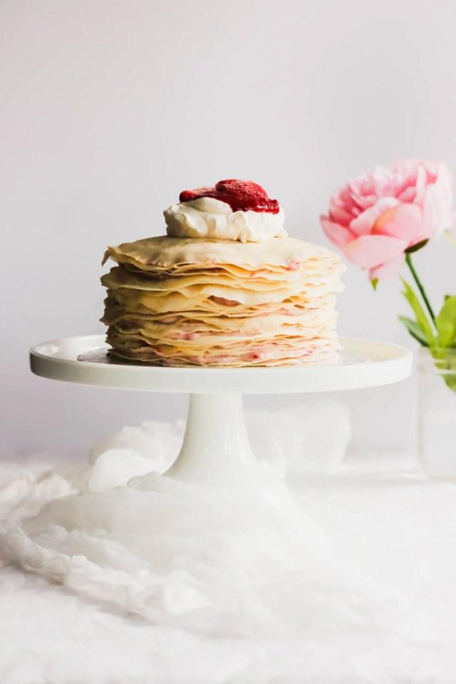 Rose Strawberry Hibiscus Mille Crepe Cake5
