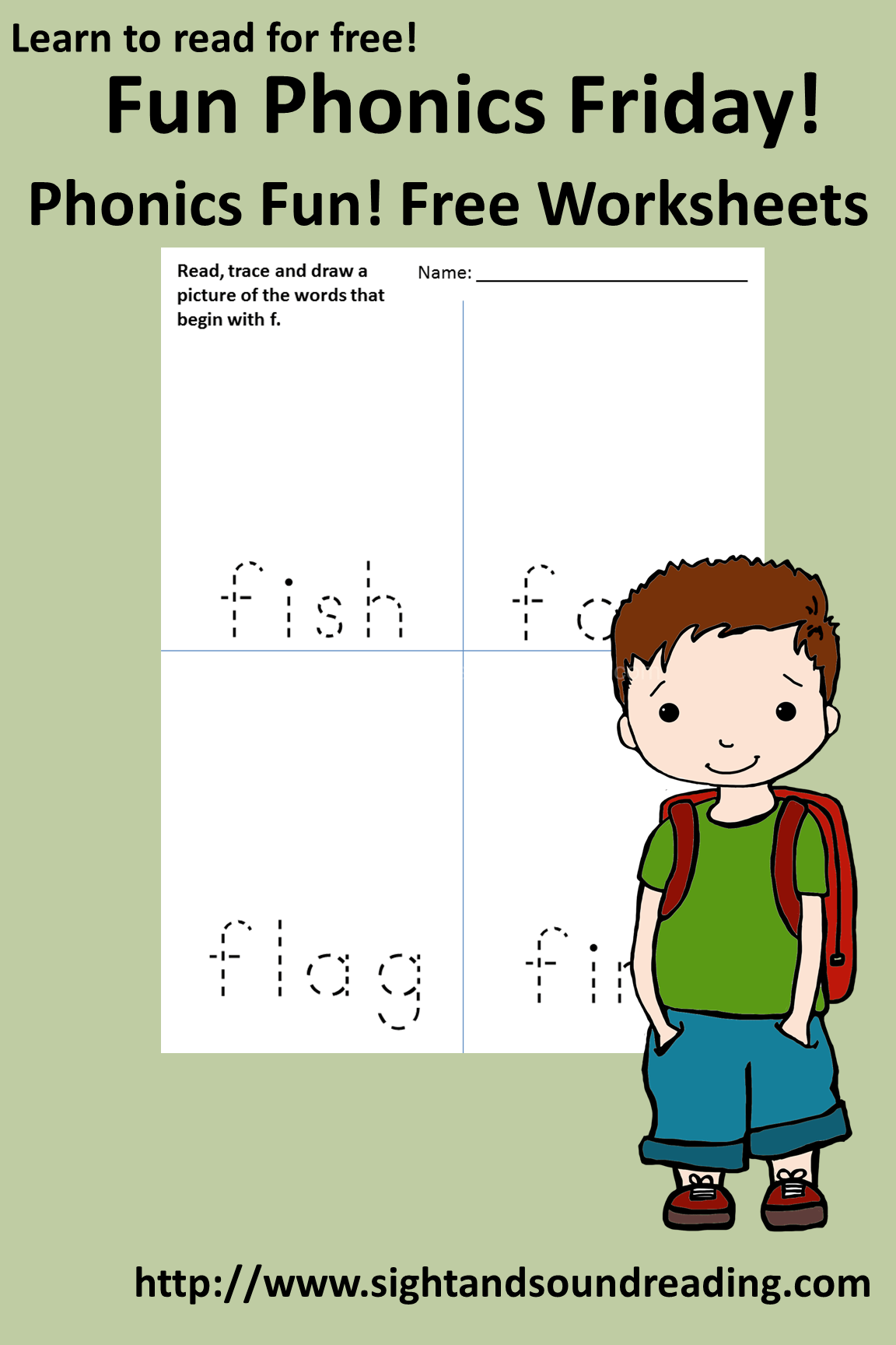 Free Phonics Worksheets The Letter F