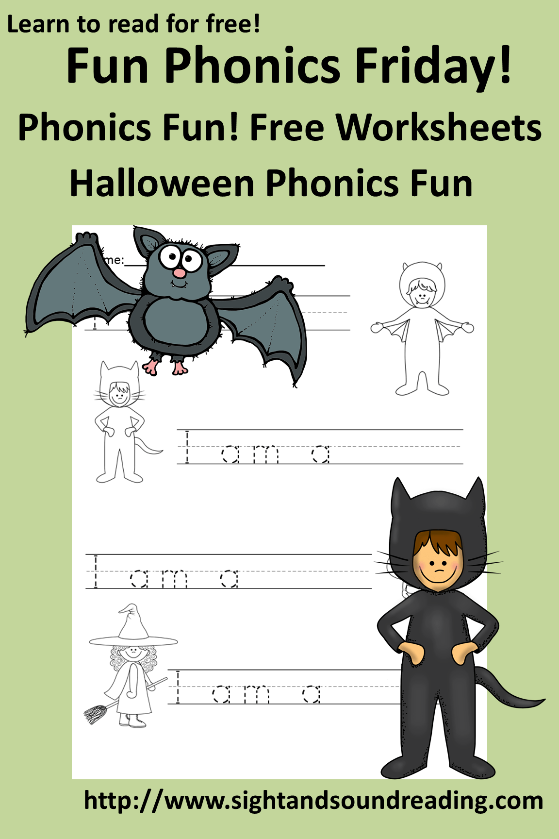 Free Phonics Worksheet For Halloween Fun Activity For Kindergarten