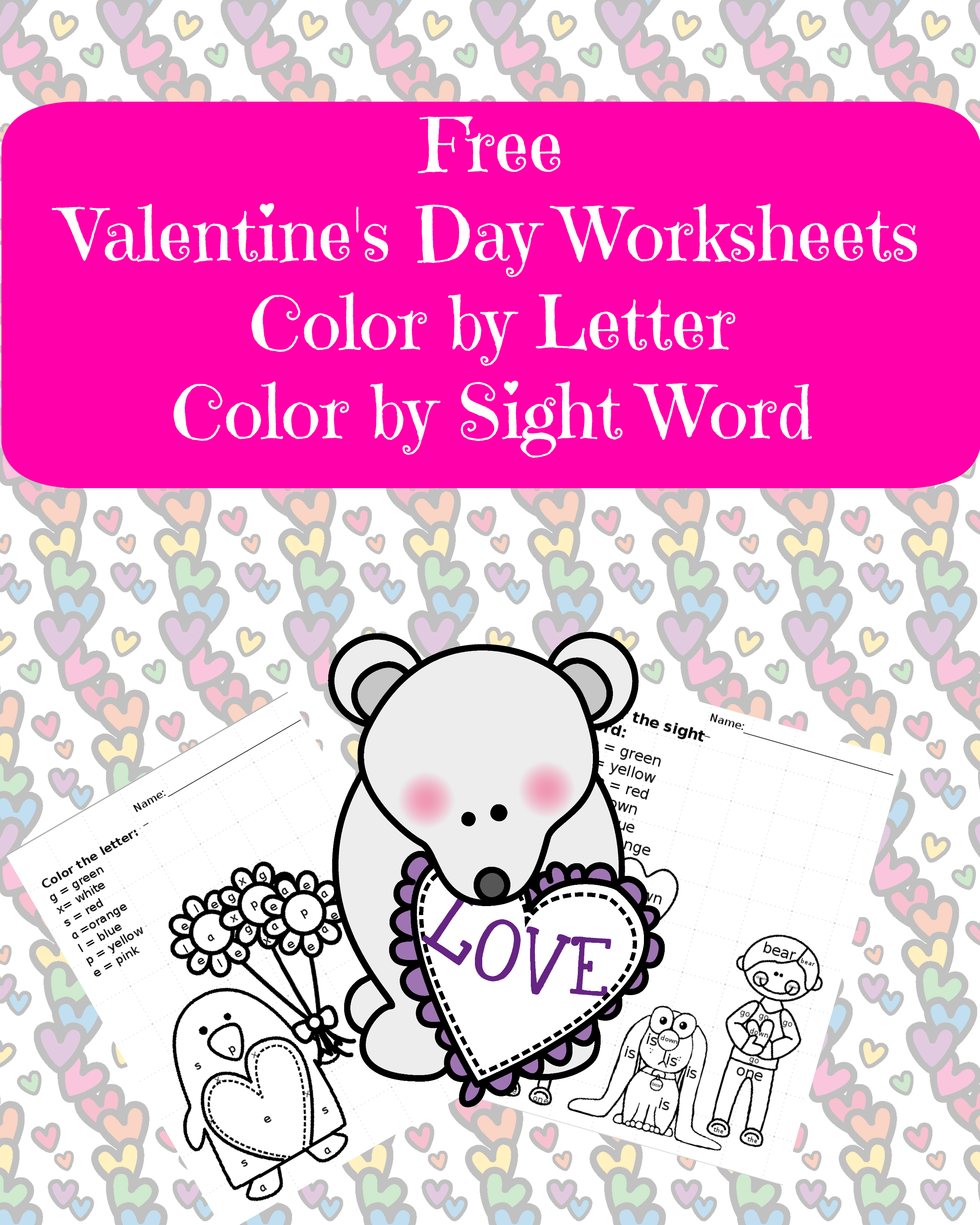Valentine Sight Word Worksheet