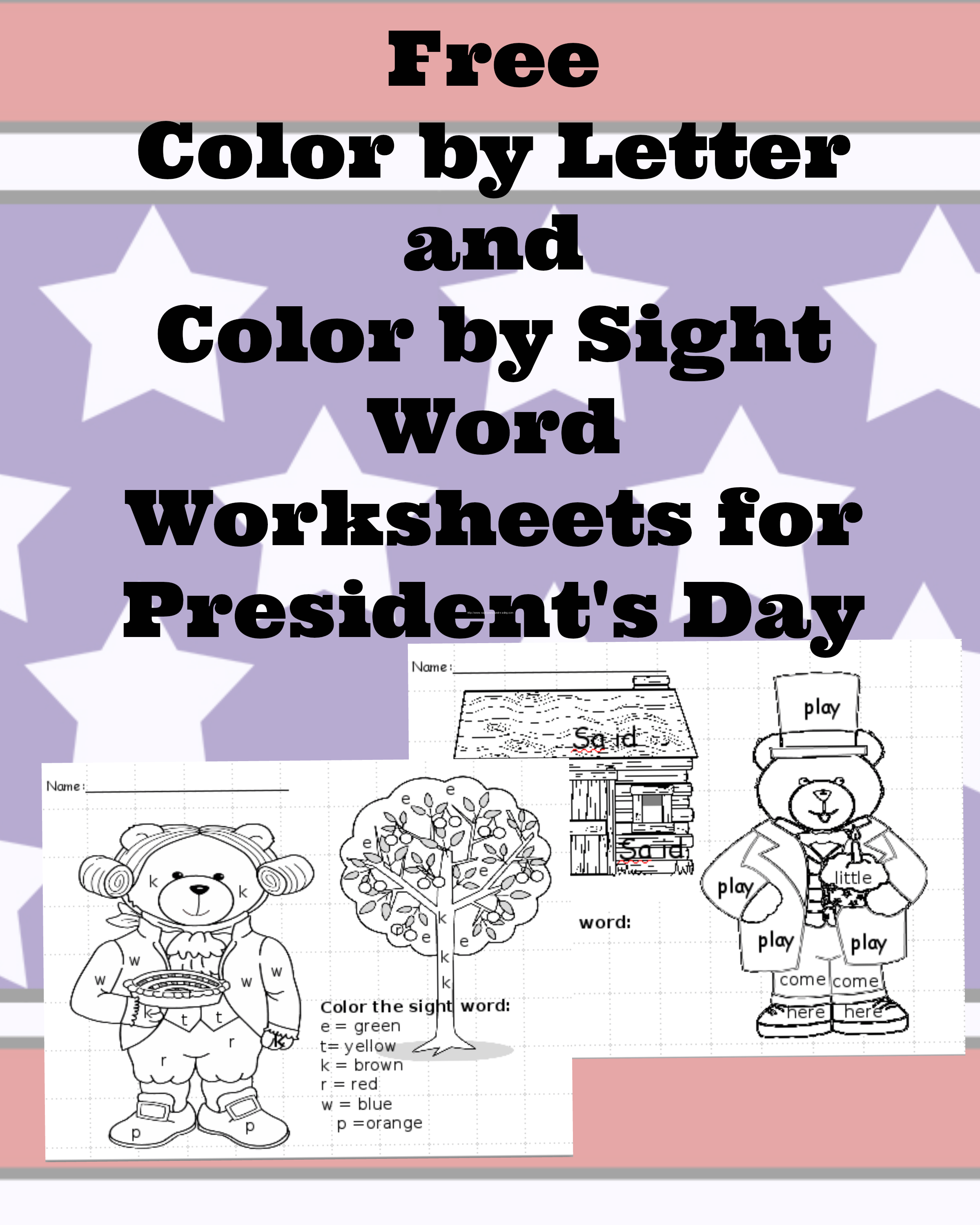 President S Day Worksheets For Preschool Or Kindergarten