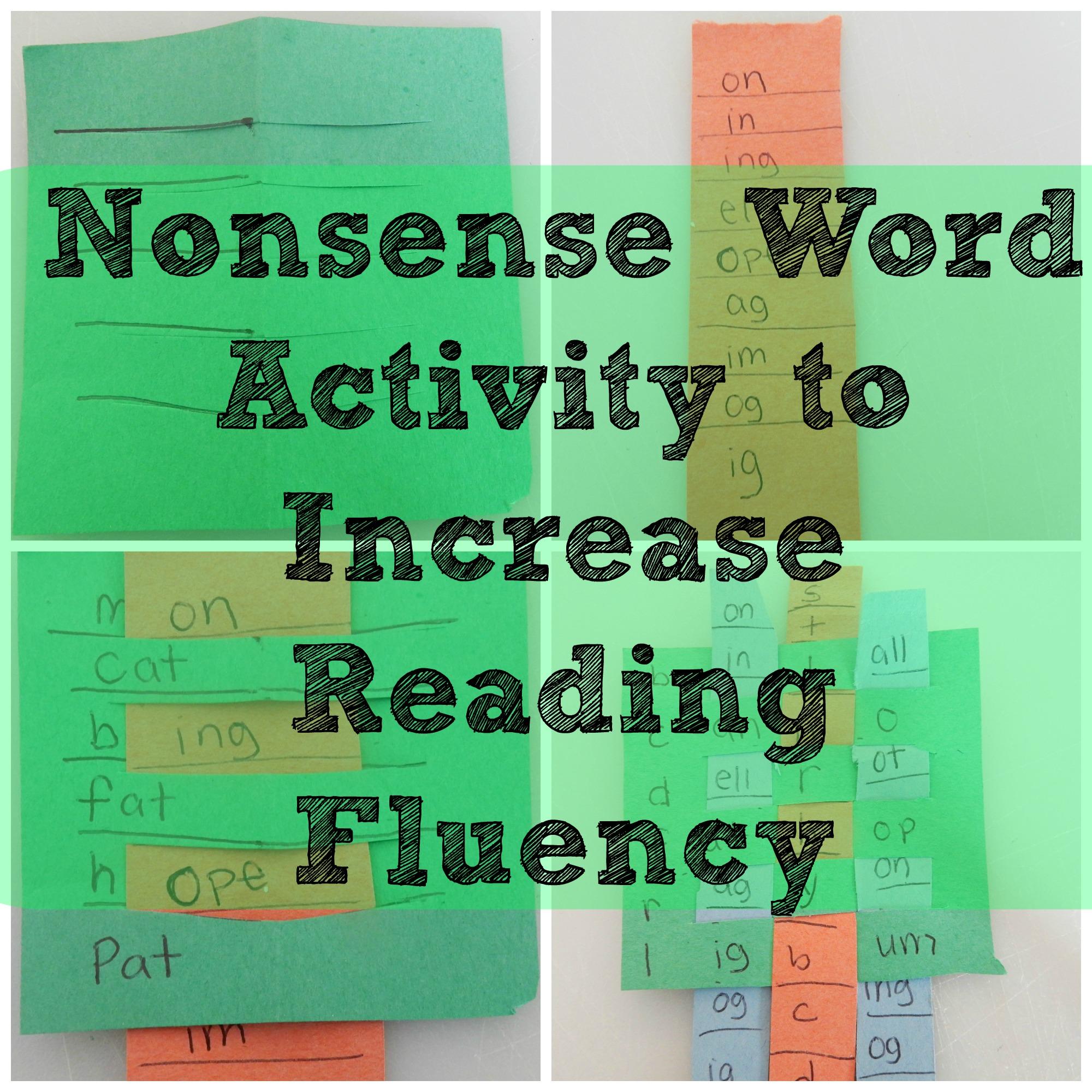 Nonsense Word Fluency Activities