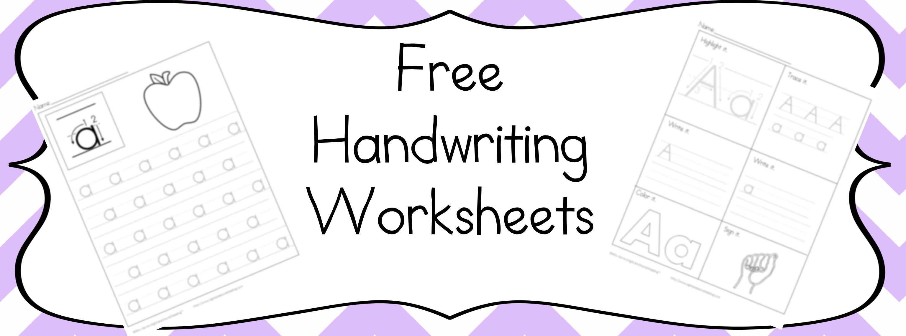 Over 350 Free Handwriting Worksheets For Kids