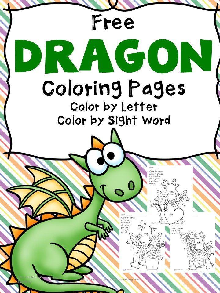 Free Printable Dragon Coloring Pages For Preschool 1st