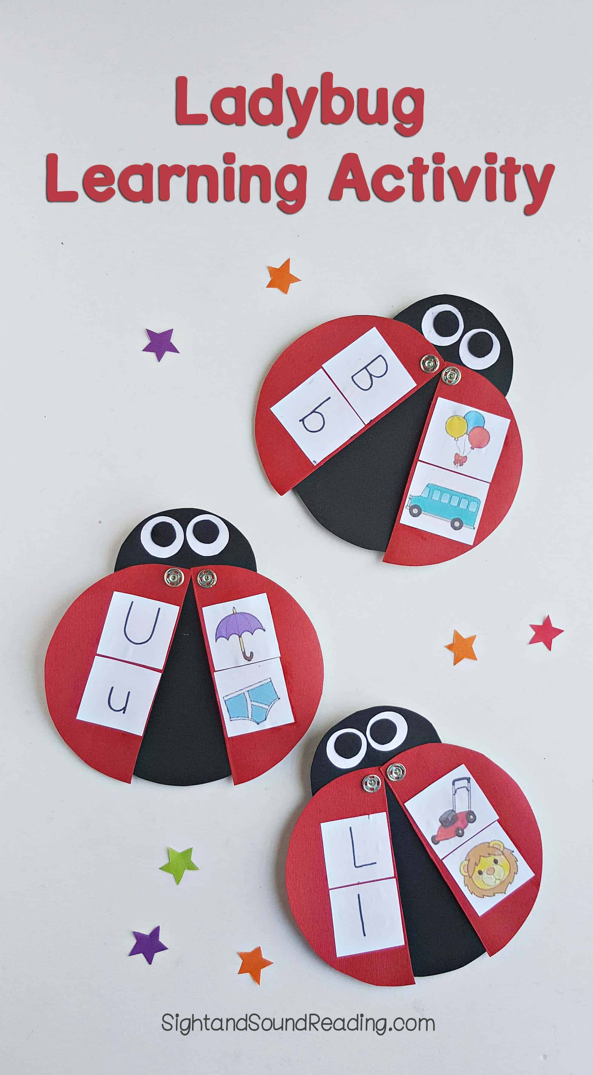 Adorable Ladybug Learning Activity For Preschool Or