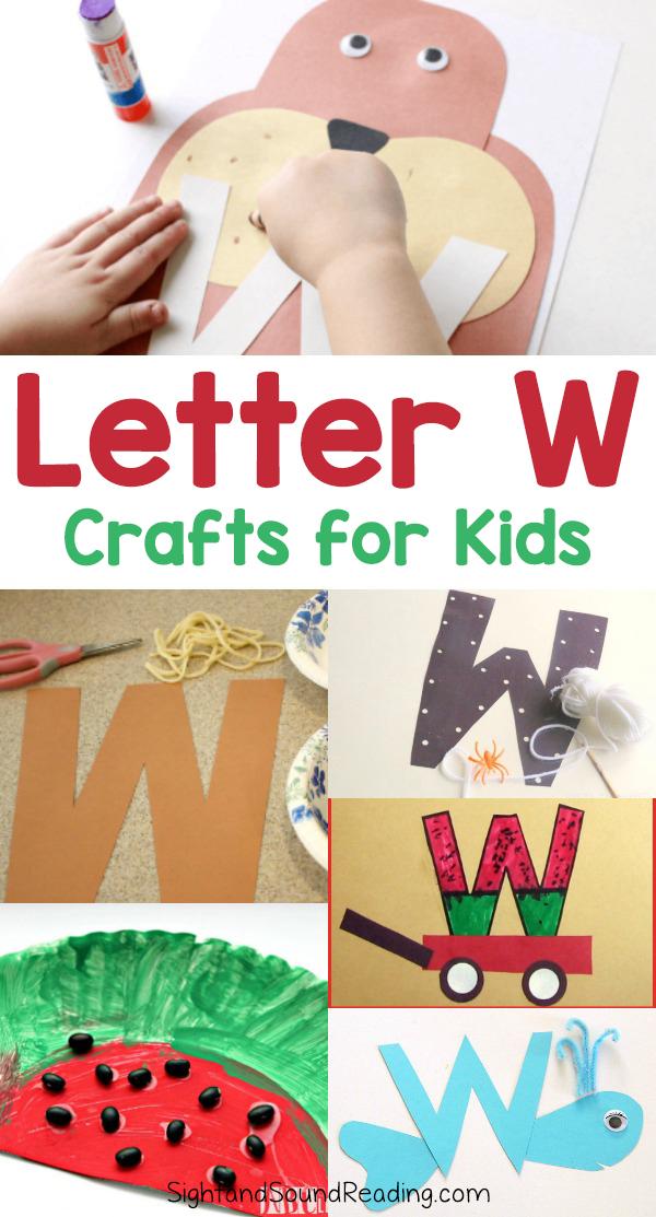 Letter Crafts For Kindergarten