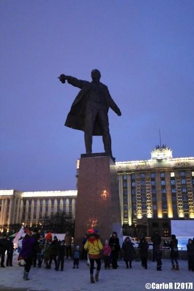 Saint Petersburg Leningrad House of Soviets Moskovskaya Lenin's Statue
