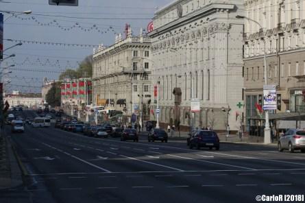 Minsk Belarus Central District Worlds Longest Boulevard