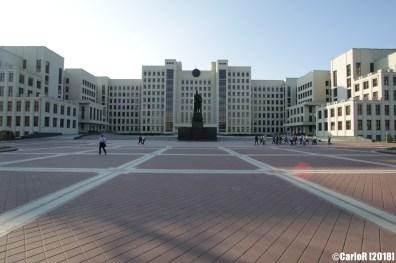Minsk Belarus Lenin Square Statue
